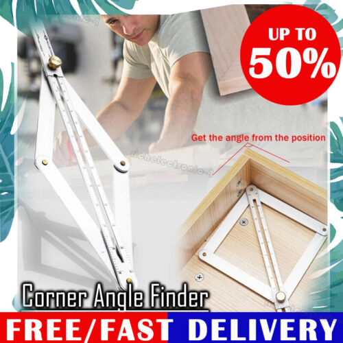 Stainless Steel Corner Angle Finder Ceiling Artifact Square Protractor Tool 2020