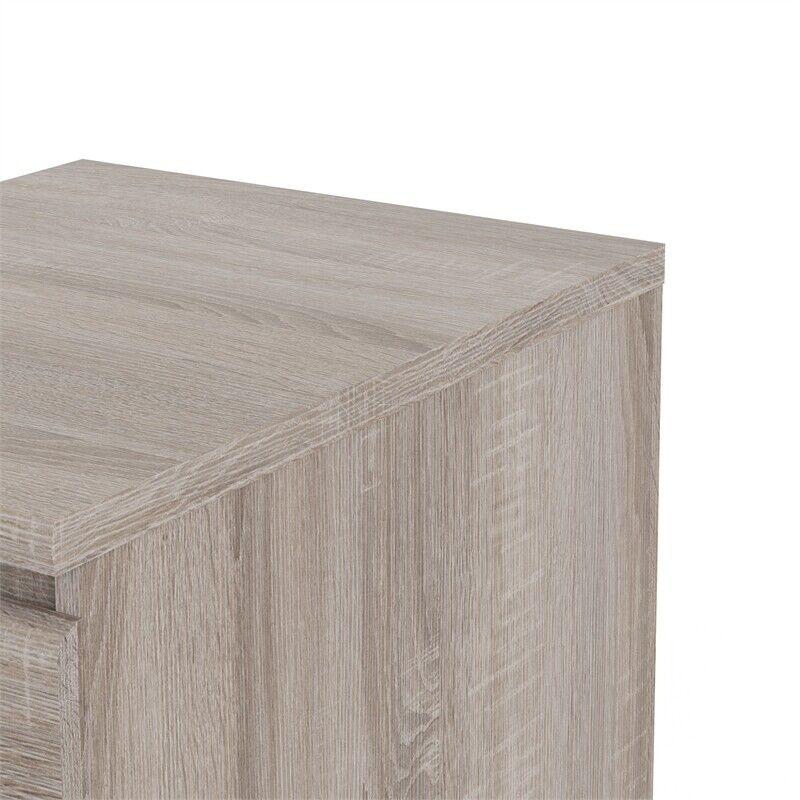 Tvilum Scottsdale 2 Drawer Wood Nightstand in Truffle