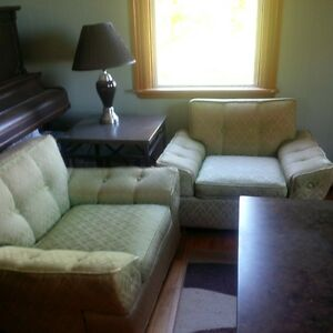 3 piece antique set, couch + 2 chairs