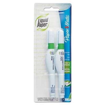 Paper Mate Liquid Paper Correction Pen 7 Ml White 2pack 041540562245