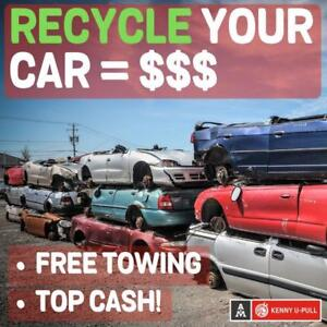 Dead or alive, We will buy your car ! Best prices ! Towing included ! Scrap Buying ! Junk car ! Ferraille ! Recycle !