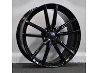 "19"" Pretoria Gloss Black Style Alloys & Tyres. Suit Audi A3, Volkswagen Caddy,Golf,Jetta,Passat,Seat"