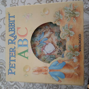 Peter Rabbit ABC wedgwood plate, cup and bowl