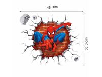 BRAND NEW wall sticker 3D size 45x50cm, SPIDERMAN