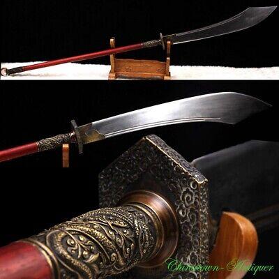 Actual Combat Functional Hand Made Pudao Broadsword Polearm Sword Sharp #3421