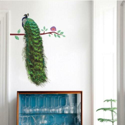 Home Decoration - Peacock Wall Art Stickers Removable Vinyl Decal Mural Home Office Decor Gift JJ