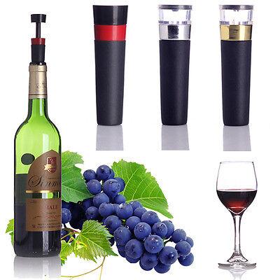 Plastic Champagne Stopper - Air Pump Sealer Plug Preserver Saver Champagne Wine Bottle Vacuum Sealed Stopper