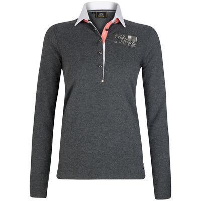 HV Polo, Poloshirt mit Knofpleiste mit weißem Kragen, in grau, Größe XXXL Xxxl Kragen Shirts