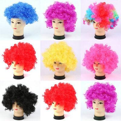 Football Fan Womens Mens Kids Fans Afro Clown Hair Cheerleading