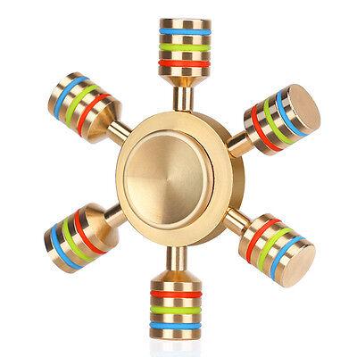 Brass Fidget Hand Spinner Finger Desk Toy EDC Focus ADHD Autism