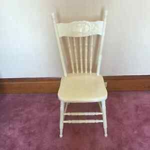 Antique Wooden White Chair