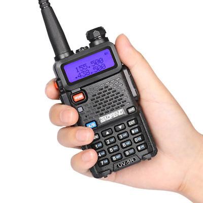 Baofeng UV-5R Walkie Talkie Headset VHF UHF Ham Portable 2-Way Radio Squelch DCS