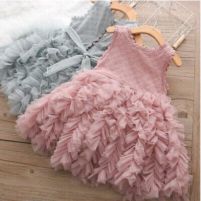 Princess Baby Girl Dress Birthday Party Dresses Tutu Fluffy Kids Clothes 3-8 Yrs](Fluffy Girls)