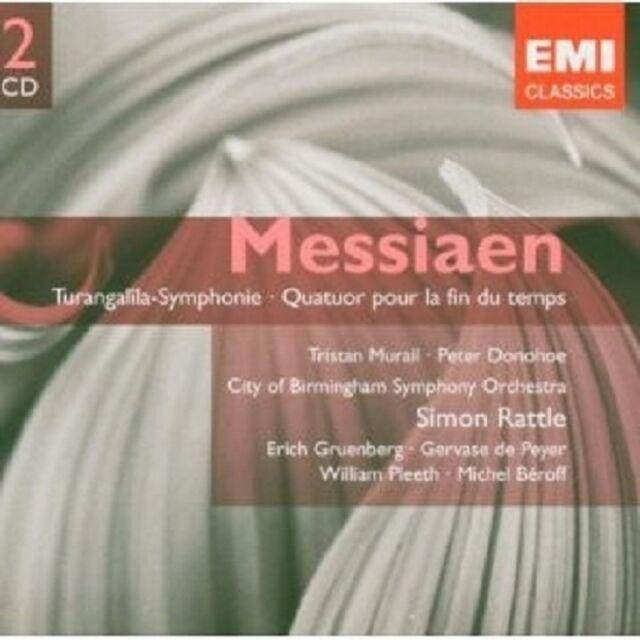 """SIMON RATTLE """"MESSIAEN:TURANGALILA SINFONIE"""" 2 CD NEU"""