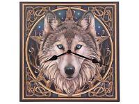 celtic wolf head clock