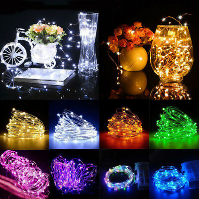20 30 40 50 100 LED String Fairy Lights Kupferdraht batteriebetrieben wasserdich
