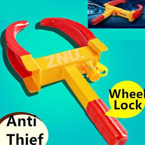 2016 - Wheel Lock Clamp Heavy Duty Anti-theft For Vehicle Car Trailer with 3Keys