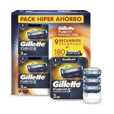 Gillette Fusion 5 ProGlide 9 uds Recambios Maquinilla de Afeitar - 180 afeitados