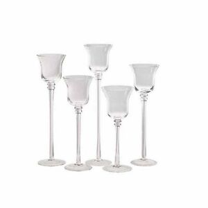 Set-5-12-Flared-Stemmed-Clear-Glass-Votive-Candle-Holder-Stand-Wedding