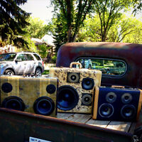 Vintage Antique Suitcase Stereo BoomBox