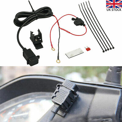 Waterproof Motorbike 12V USB Power Socket Adapter Charger Outlet Motorcycle UK