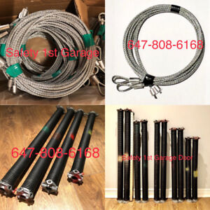 Garage Door Spring and Cables Repair Starts from $100