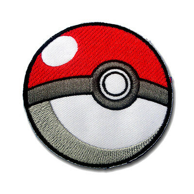 Poke Ball Pokemon Go Pikachu Nintendo Ash Ketchum Pocket Embroidered Patch 2 3
