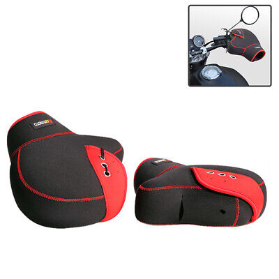 Hand Muffs Mitts Warmer Handlebar Protectors Motorcycle Scooter/ATV Winter Red