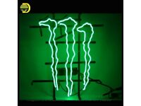 MONSTER ENERGY Real Glass Neon Light Sign