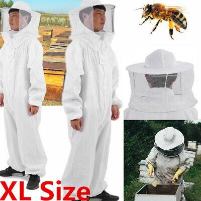 Beekeeper Protect Bee Keeping Suit Jacket Safty Veil Hat Body Equipment Hood Xl