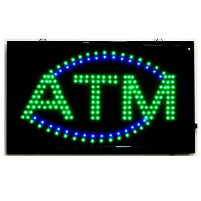 Large Animated Led Atm Led Neon Sign Bright Restaurant Shop Store 21 X 13