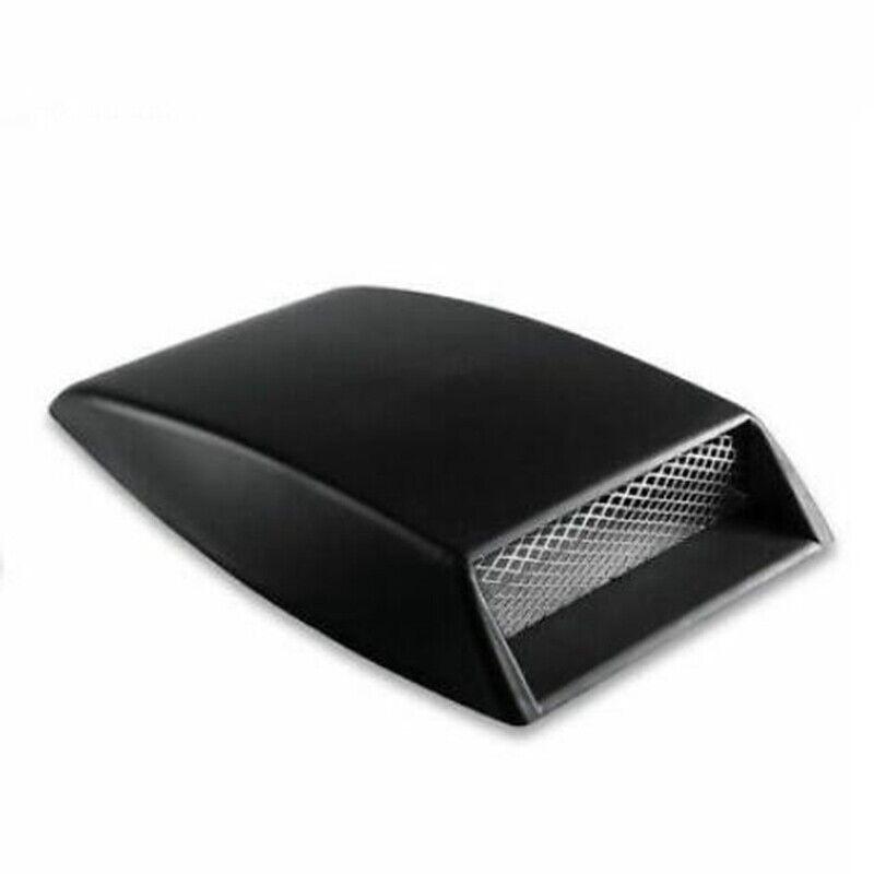 Air Flow Intake Turbo Bonnet Hood Scoop Vent Cover Black Auto Car Decorative