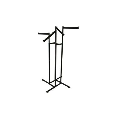 Clothing Store Display Rack 4 Way Arms Slant Straight Clothes Hanger Black New