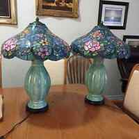 2 Tiffany style lamps in mint condition