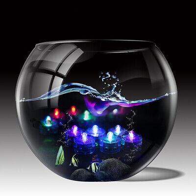 12er Set LED Teelichter Wasserdicht Unterwasser Schwimmkerze versch. Farben