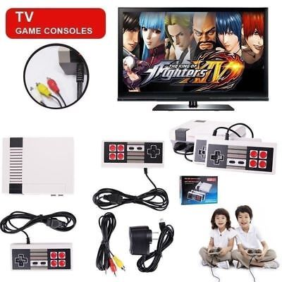 Grey Systems - Mini Vintage Retro TV Game Console Classic 620 Built-in Games 2 Gamepad Kid Gift