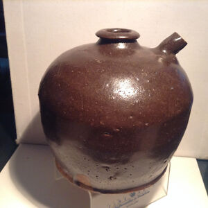 Antique Chinese Soy Jug Ceramic Pottery