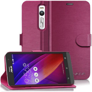 99.9% new Vena Asus ZenFone 2 Wallet Case (Burgundy Red)