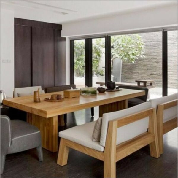 E 010 PO-Solid Wood Dining Table / Chair