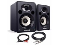 "2 x Alesis Elevate 5 Professional 5"" 80W Active Studio Monitor Speakers + Leads...........Brand New"
