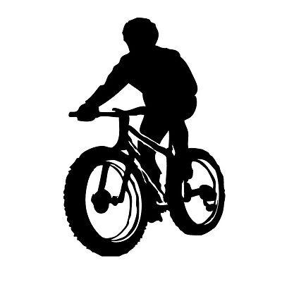 Biker - Aufkleber Folie Vinyl Tattoo KFZ  Fahrrad Rad Mountainbike Bike Radsport