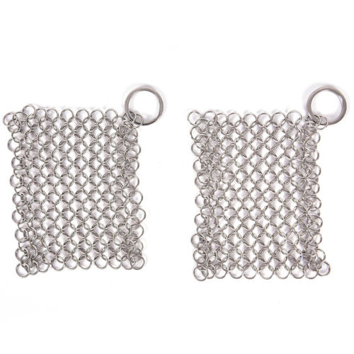 Stainless Steel Cast Iron Cleaner Chainmail`Scrubber Home Co
