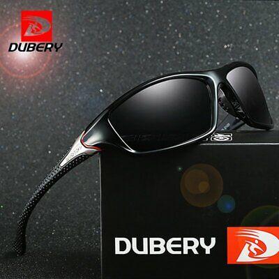 DUBERY Herren Sonnenbrille Polarisiert Brillen Sport UV400 Pilotenbrille Mit Box
