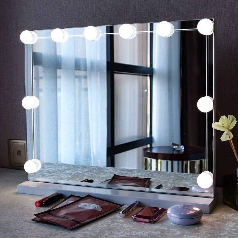 online store 156fb a1bbf Details about 10 Led Bulbs Hollywood Mirror Lights Vanity Makeup Bathroom  Dressing Table Light