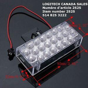 22 LED Alert Emergency Warning Light Strobe Flash Lamp White