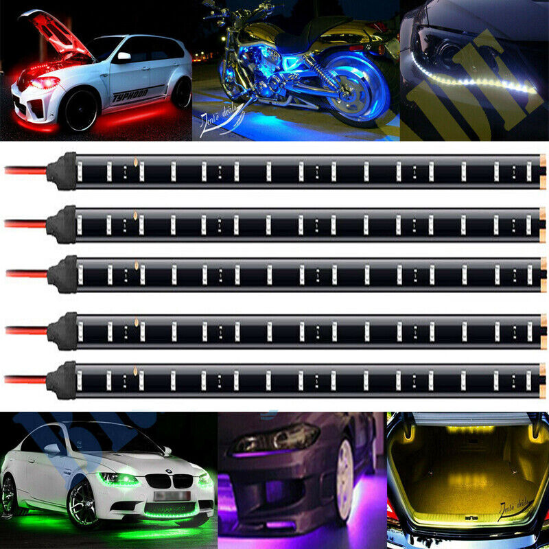 5x 12V 30cm 1FT 15SMD Flexible LED Strip Light Waterproof Fo