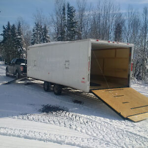 8.5 x 24 Enclosed Snowmobile Trailer