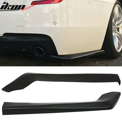 Acura Legend Body Kits - Universal 2Pc HT Style 20in PU Rear Bumper Spats Sides Extension Splitter Lips