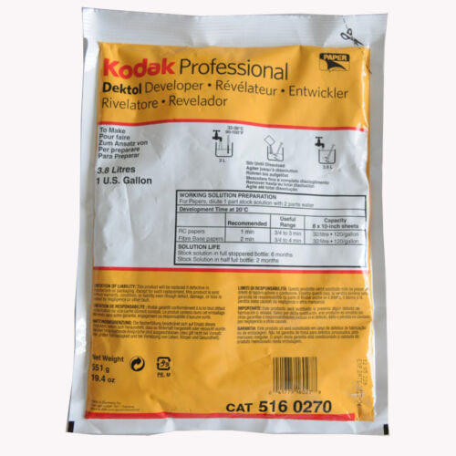 Kodak Dektol Developer (Powder) for Black & White Paper Makes 1 Gallon (5160270)