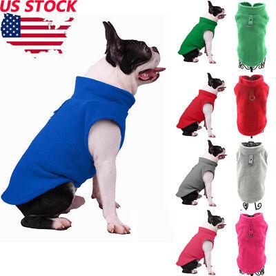 US Pet Fleece Harness Vest Jacket Jumper Sweater Coat for Small Medium Large Dog Fleece Dog Coat